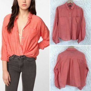 BDG Urban Outfitters Oversize Utility Shirt Pink